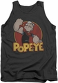 Popeye tank top Retro Ring mens charcoal