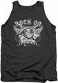 Popeye tank top Rock On mens charcoal