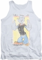 Popeye tank top Say Yes To Spinach mens white