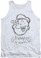 Popeye tank top Sketch Portrait mens white