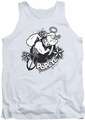 Popeye tank top Stars And Anchor mens white