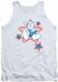 Popeye tank top Stars mens white