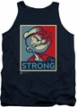 Popeye tank top Strong mens navy
