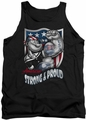 Popeye tank top Strong & Proud mens black