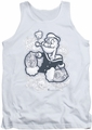 Popeye tank top Tattooed mens white