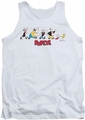 Popeye tank top The Usual Suspects mens white