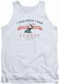 Popeye tank top Vintage mens white