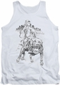 Popeye tank top Walking The Dog mens white
