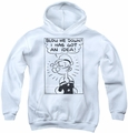 Popeye youth teen hoodie An Idea white