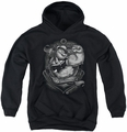 Popeye youth teen hoodie Anchors Away black