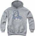 Popeye youth teen hoodie Back Tat athletic heather