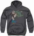 Popeye youth teen hoodie Break Out Spinach charcoal