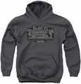 Popeye youth teen hoodie Classic Popeye charcoal