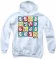 Popeye youth teen hoodie Color Block white