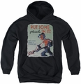 Popeye youth teen hoodie Hard Work black