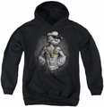 Popeye youth teen hoodie Hardcore black