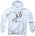 Popeye youth teen hoodie Here Comes Trouble white