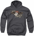 Popeye youth teen hoodie I Am charcoal