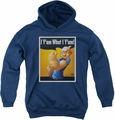 Popeye youth teen hoodie I Can Do It navy