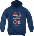 Popeye youth teen hoodie Items navy