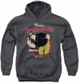 Popeye youth teen hoodie Lay One On Me charcoal
