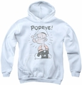 Popeye youth teen hoodie Old Seafarer white