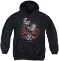 Popeye youth teen hoodie Pong Star black