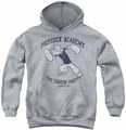 Popeye youth teen hoodie Poopdeck Academy athletic heather