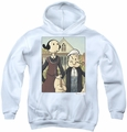Popeye youth teen hoodie Popeye Gothic white