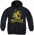 Popeye youth teen hoodie Popeyes Gym black
