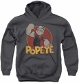 Popeye youth teen hoodie Retro Ring charcoal