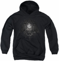 Popeye youth teen hoodie Sailor Heraldry black