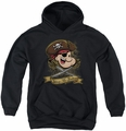 Popeye youth teen hoodie Shiver Me Timbers black