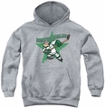 Popeye youth teen hoodie Spinach Leafs athletic heather