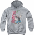 Popeye youth teen hoodie Spinach Power athletic heather