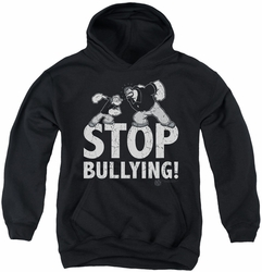 Popeye youth teen hoodie Stop Bullying black