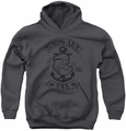 Popeye youth teen hoodie Strong Arm Mc charcoal