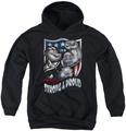 Popeye youth teen hoodie Strong & Proud black