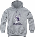 Popeye youth teen hoodie Strong To The Finish athletic heather