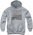 Popeye youth teen hoodie Sweet Love athletic heather