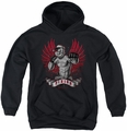 Popeye youth teen hoodie Undefeated black