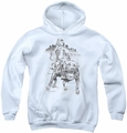 Popeye youth teen hoodie Walking The Dog white