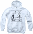 Popeye youth teen hoodie Well white