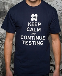 Portal 2 Keep Calm mens t-shirt