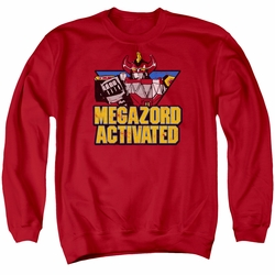 Power Rangers adult crewneck sweatshirt Megazord Activated red