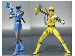 Power Rangers Blue Wind & Yellow Wind action figure set S.H.Figuarts