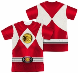 Power Rangers full sublimation t-shirt Red Ranger Emblem short sleeve multi