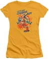 Power Rangers juniors sheer t-shirt Charged Up gold