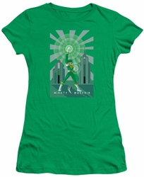 Power Rangers juniors sheer t-shirt Green Ranger Deco kelly green