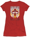 Power Rangers juniors sheer t-shirt Red Deco red